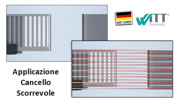 Sensori Barriere EN 12978 cancelli scorrevoli